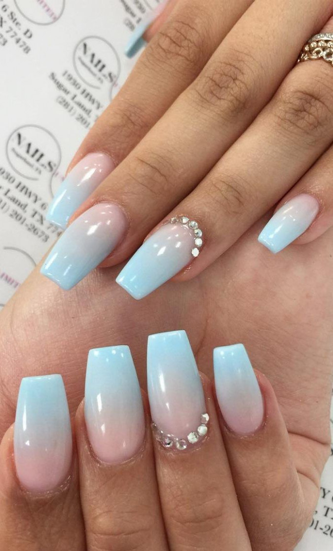 10+ Fabulous and Summer Ombre Nail design Ideas for 10 Part 10