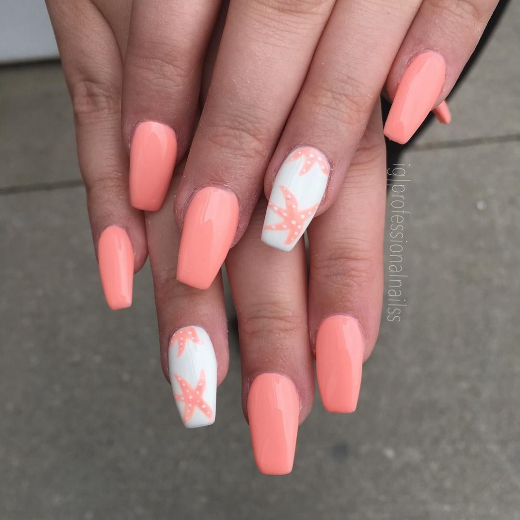11 Beautiful Summer Coffin Nails Easy to Copy  Summer holiday