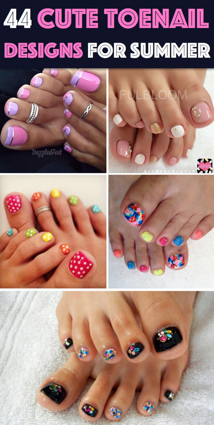 12 Easy And Cute Toenail Designs for Summer – Cute DIY Projects