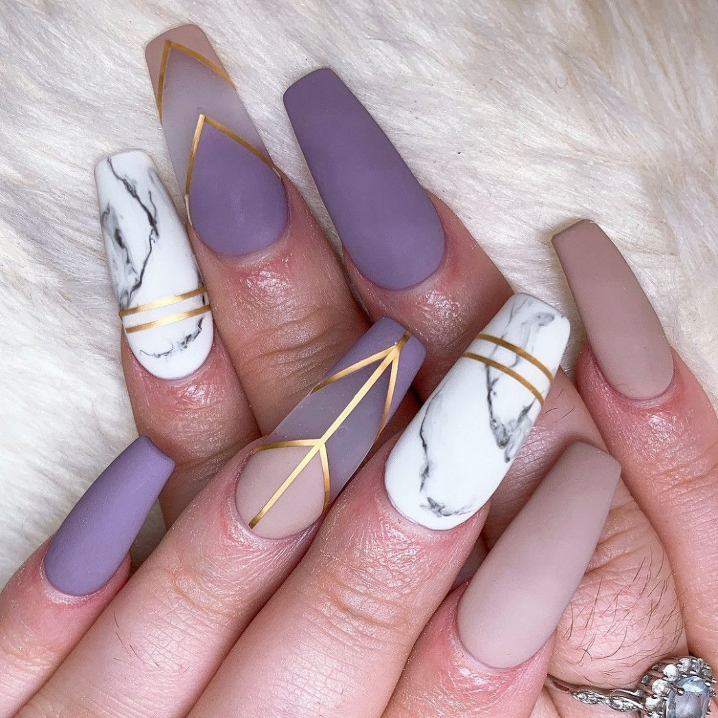 12 Pretty Acrylic Coffin Nails Designs Ideas for Summer  Long