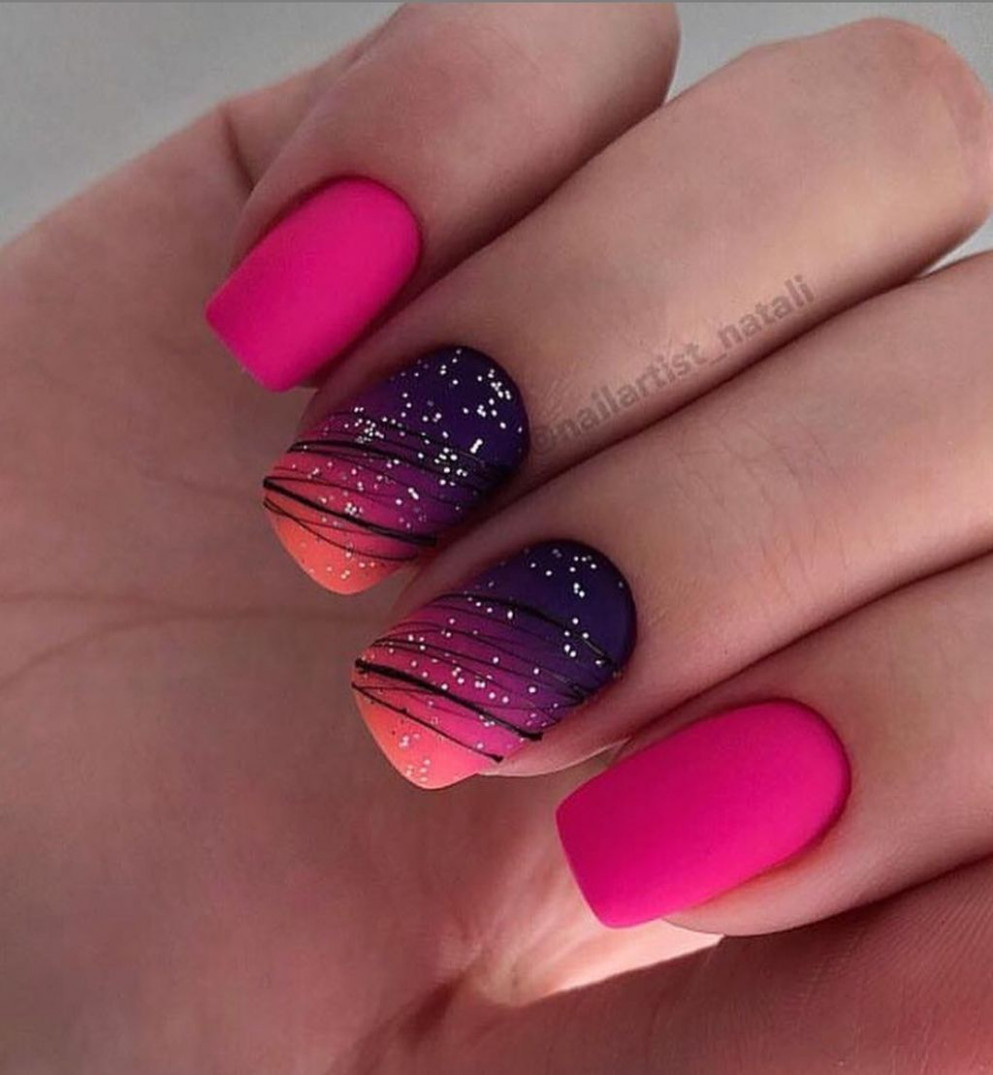 8+ Cool Nail Acrylic Designs Ideas To Wear This Summer  Short  - Cool Nail Designs