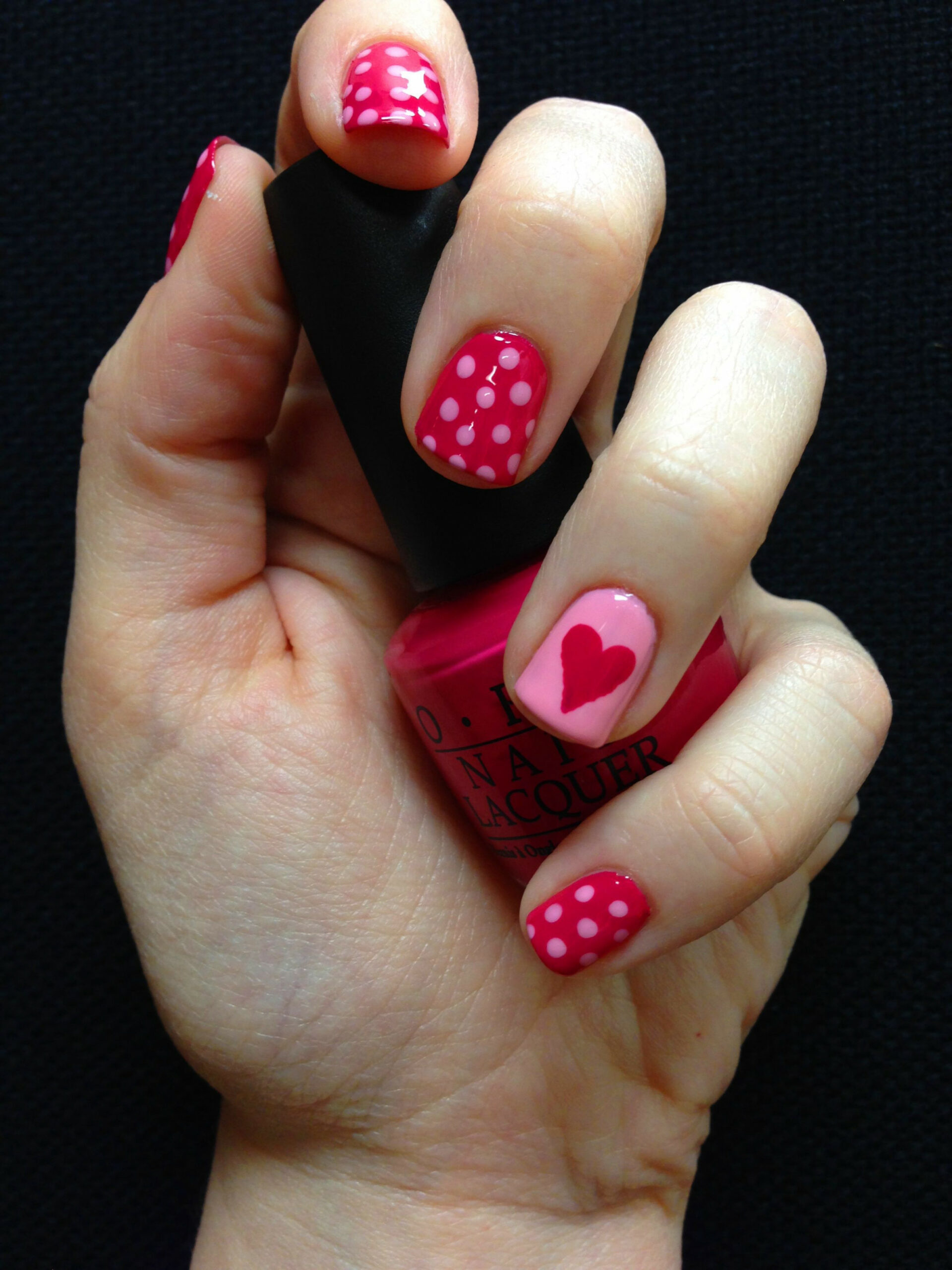 Cute simple Valentine's Day nails :) - Imgur  Nail designs