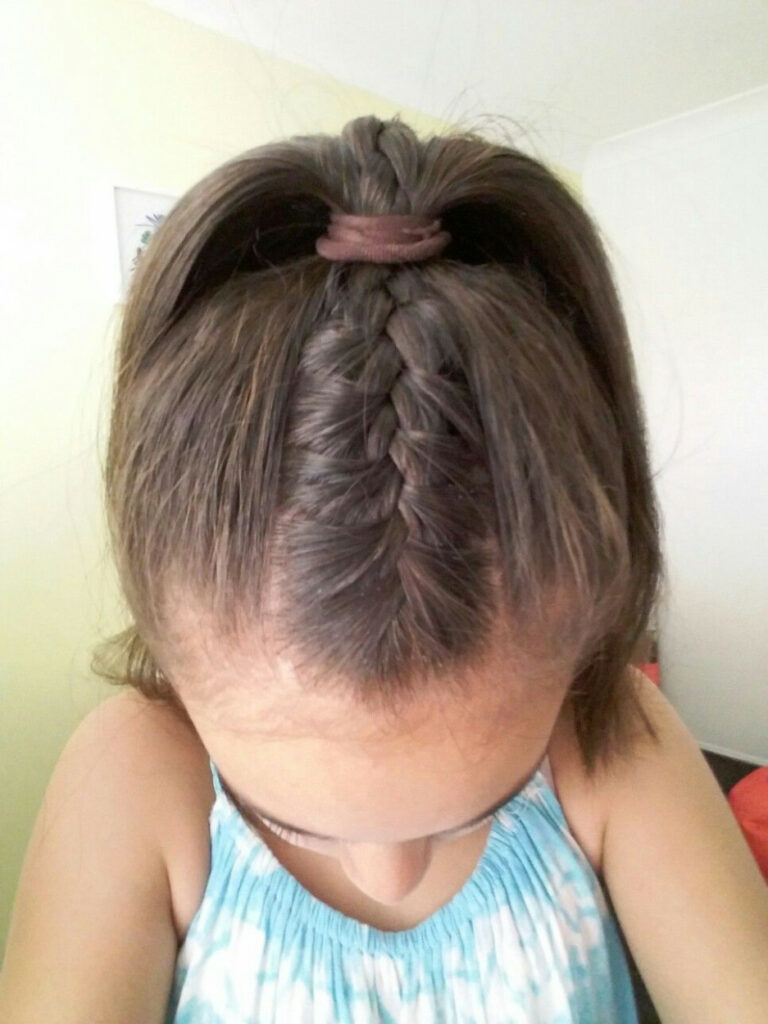 Top French Braid Ponytail