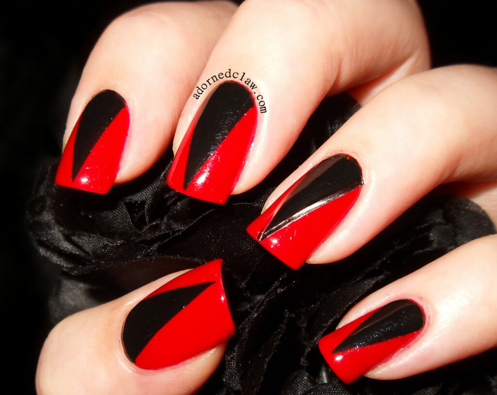 New Ideas Red Black Nail Designs