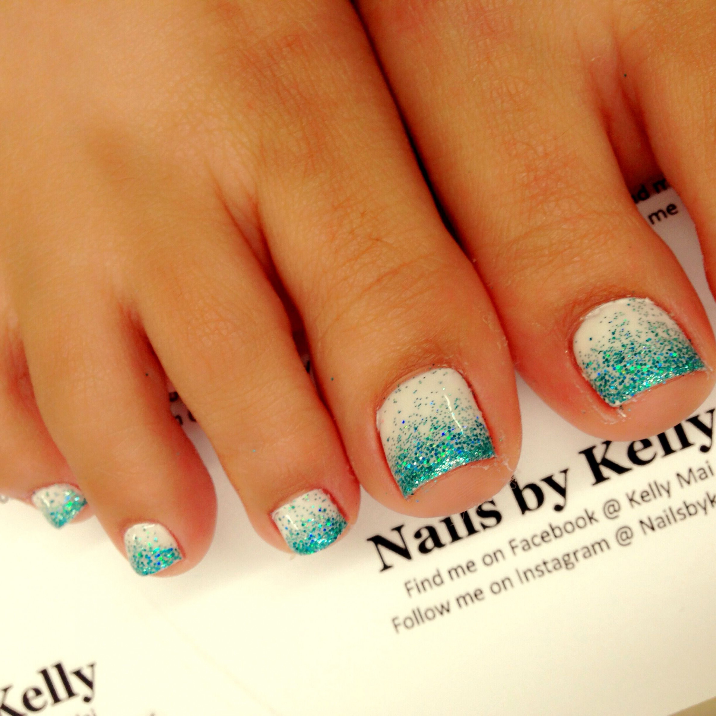 Pin by Kassi Albertson on uñas  Cute toe nails, Ombre gel nails
