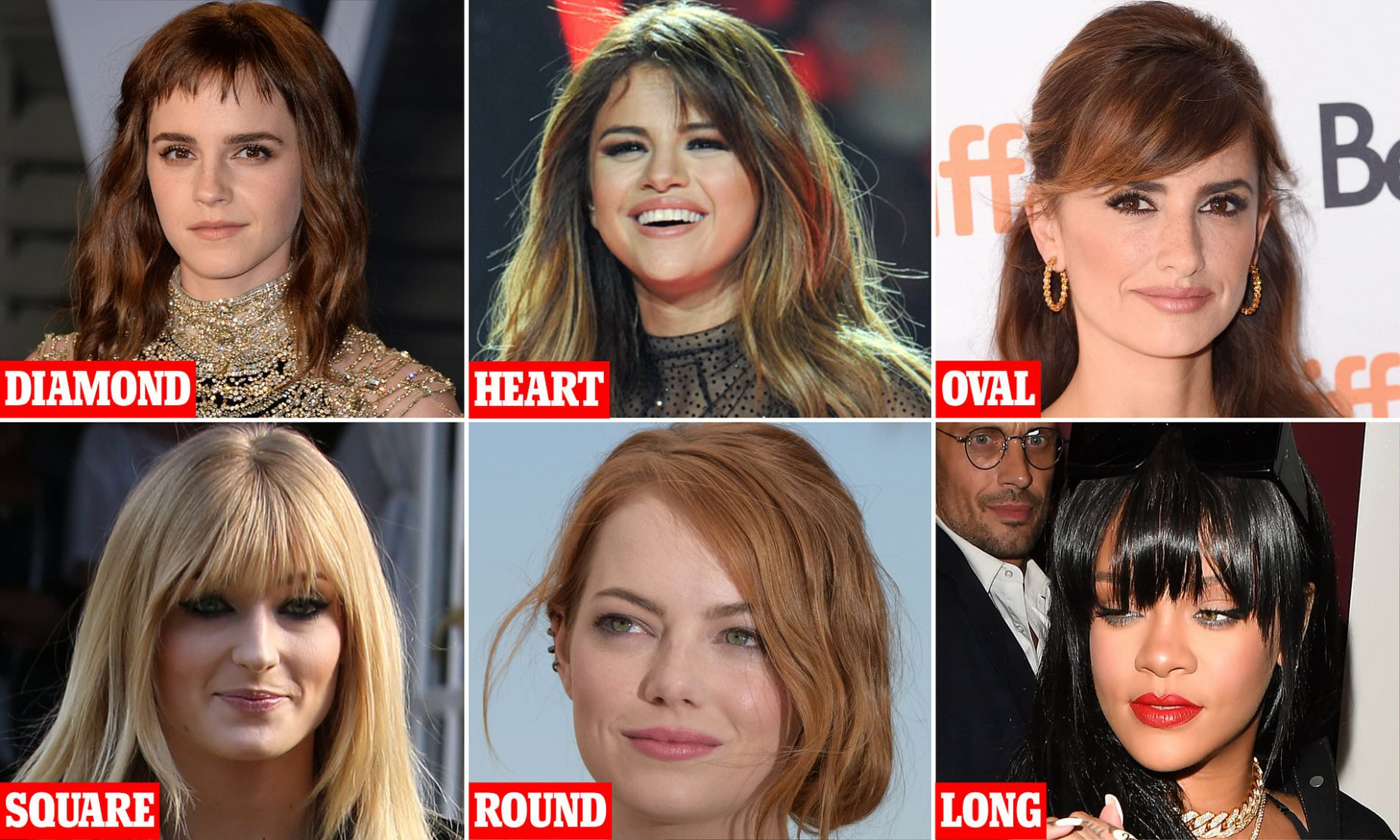 Revealed! The perfect fringe for YOUR face shape  Daily Mail Online - Bangs For Oval Face