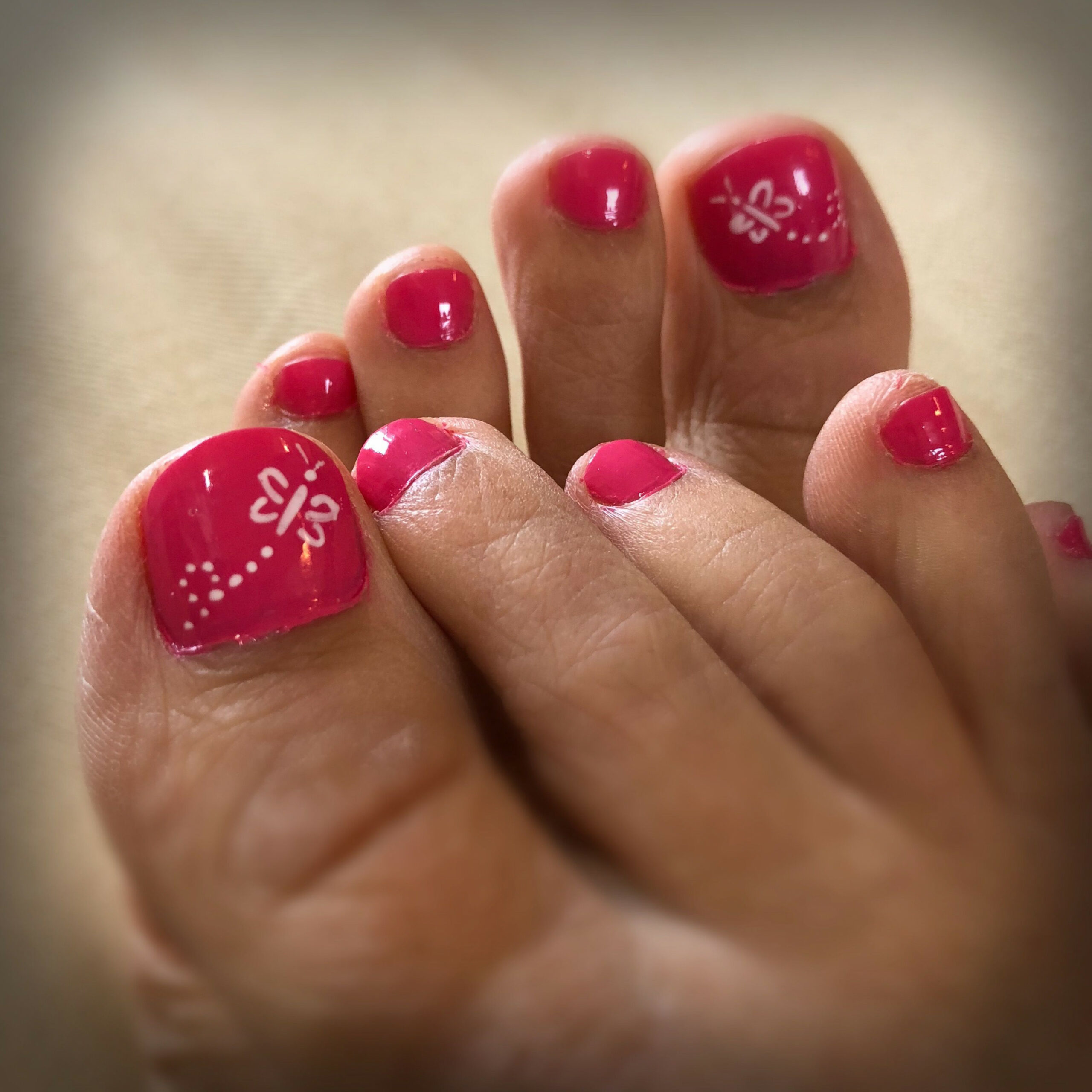 Summer butterfly simple toe nail design  Simple toe nails, Easy