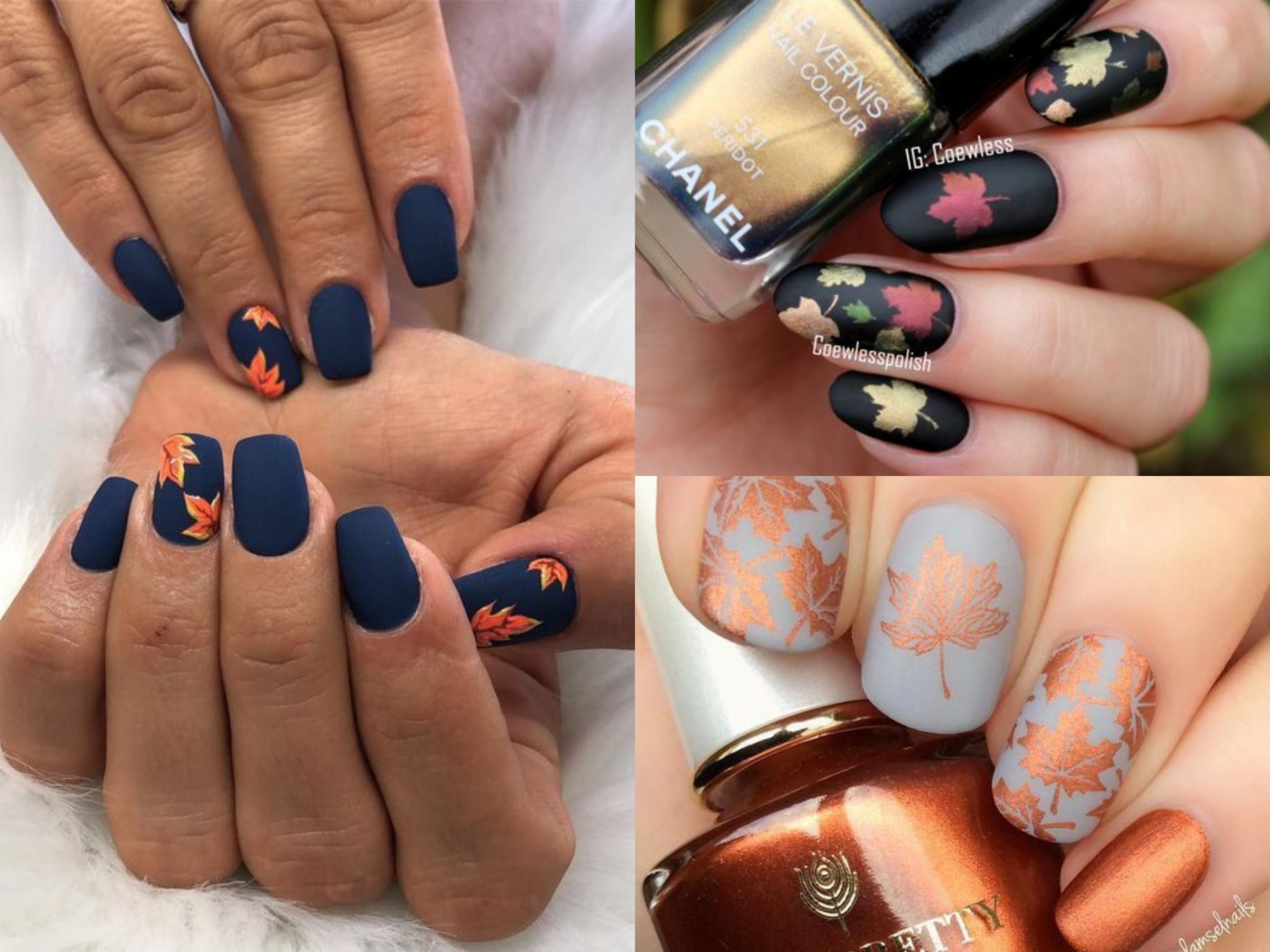 10 Fall Nail Art ideas and Autumn Color Combos to try on this