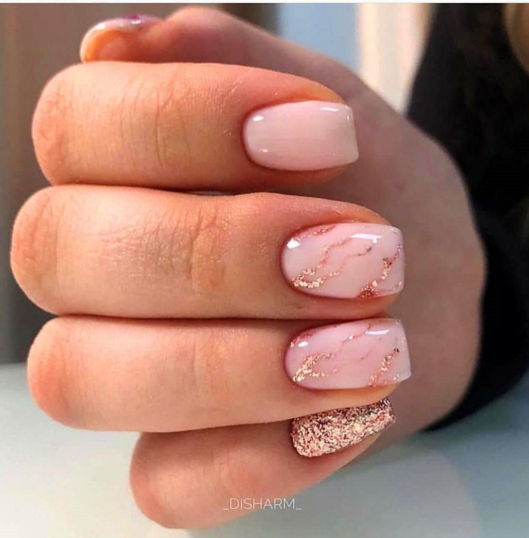 10 Simple Summer Square Acrylic Nails Designs In 10  Short