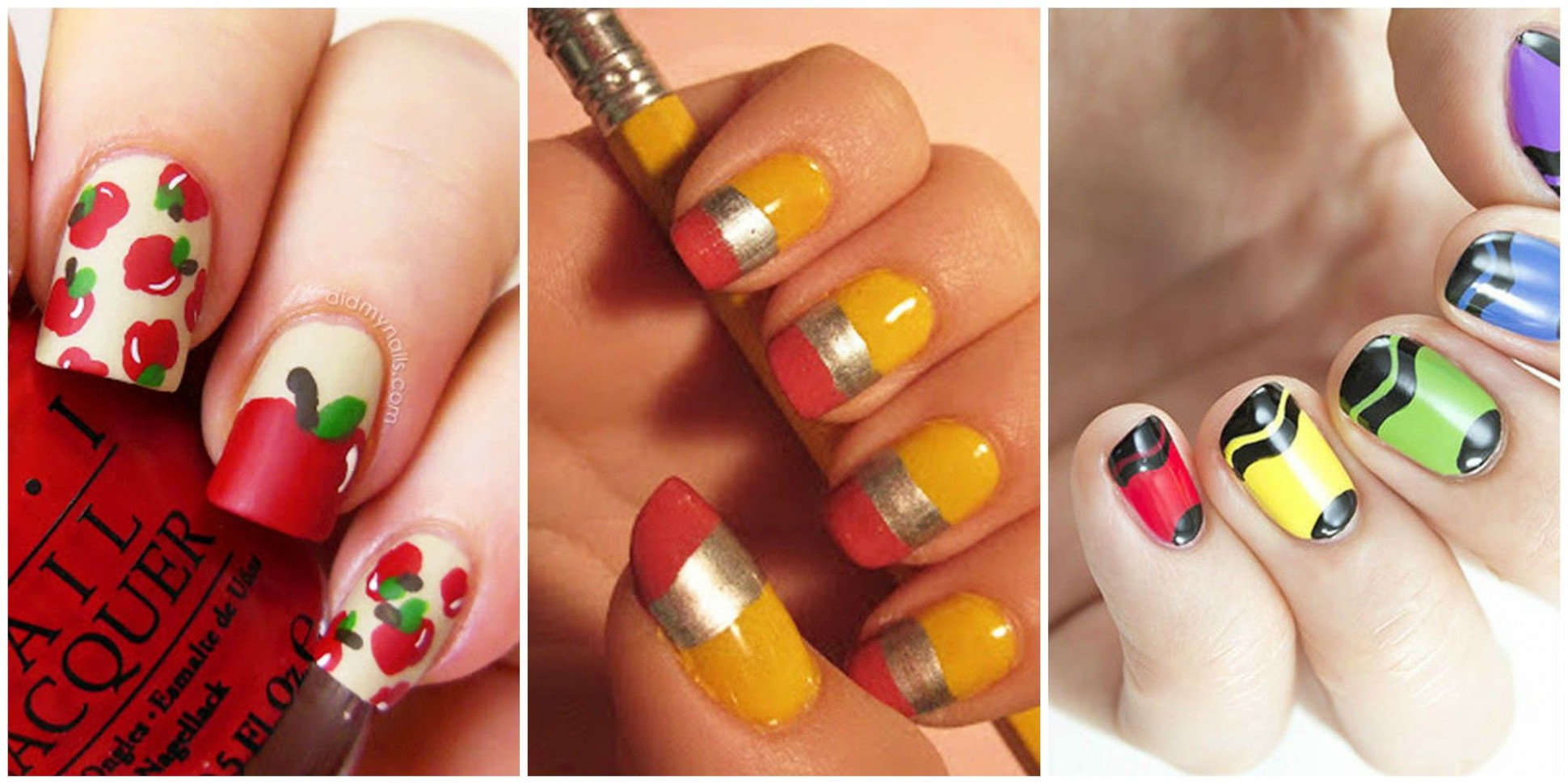 11 Cute Back-to-School Nails - Best Nail Art Design Ideas for School - Cute Back To School Nails