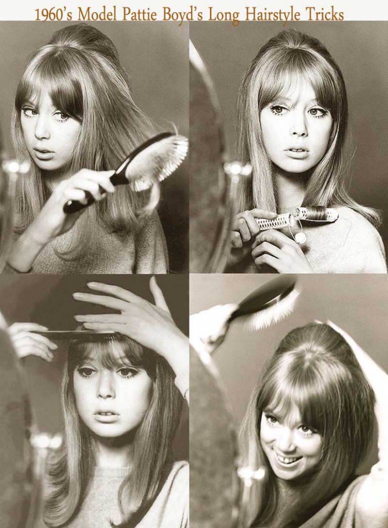 11's Hairstyles for Long Hair - Pattie Boyd.  Glamour Daze