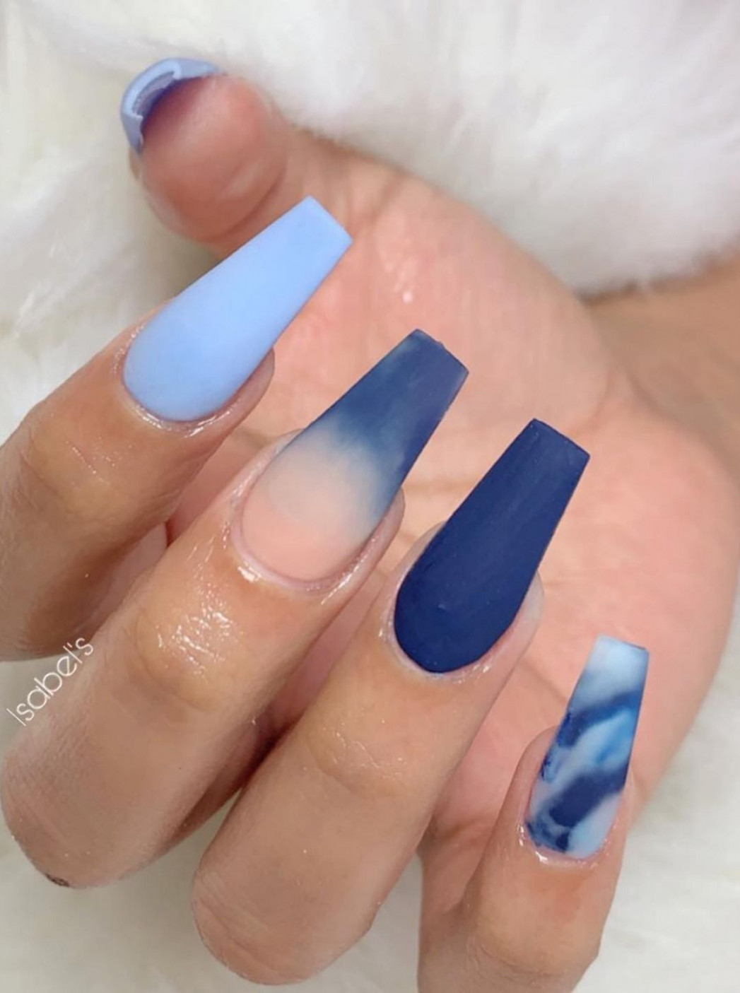 12+ Best Coffin Nails Ideas That Suit Everyone  Blue acrylic