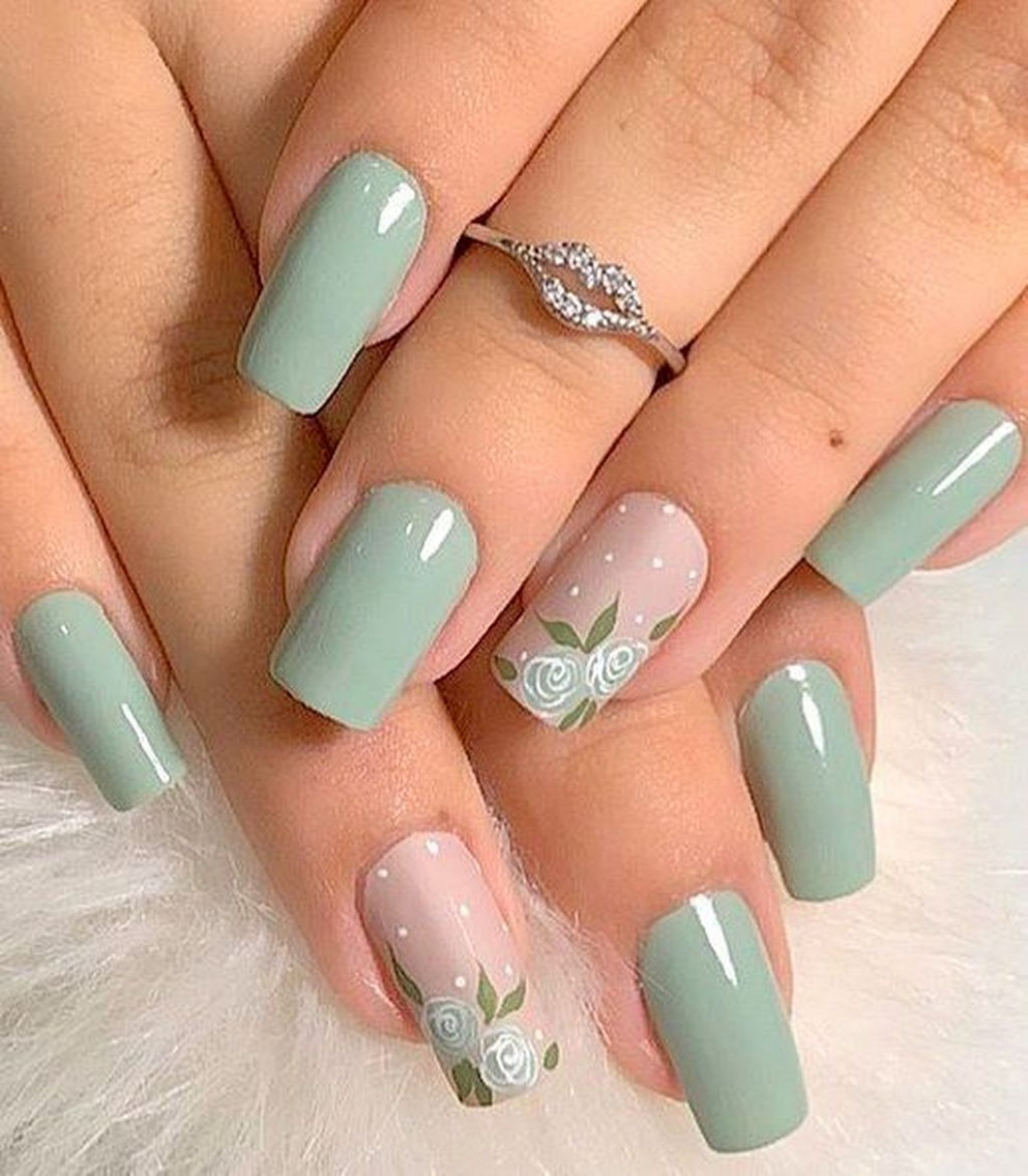 12+ Cool Green Nail Art Designs Ideas That Will Inspire You