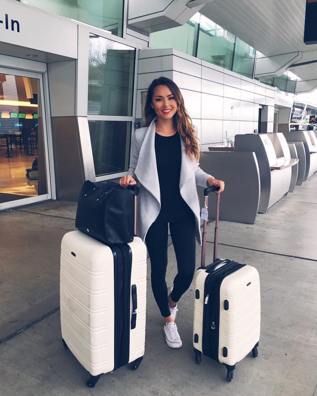 12 Outfits to Wear to the Airport - Crossroads  Cute travel  - Airport Outfits
