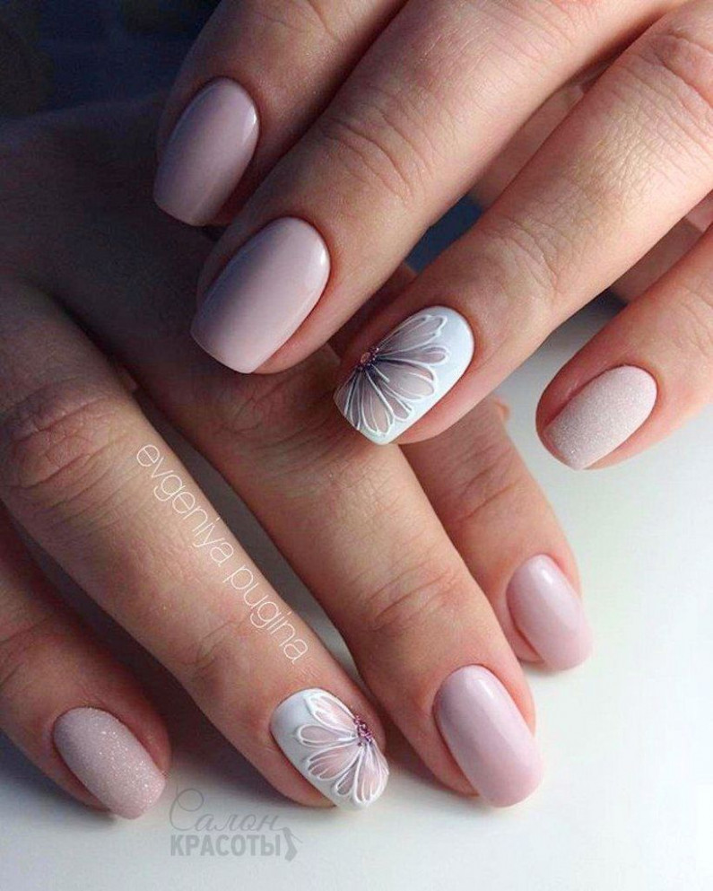 12+ Simple Spring Nail Design Ideas That Are Looks Pretty  Flower  - Easy Spring Nail Designs