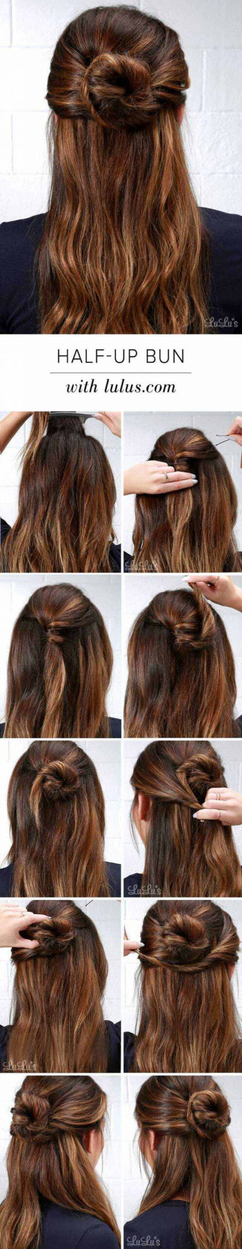 8 Amazing Half up-Half down Hairstyles For Long Hair - The Goddess