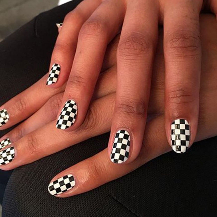 8 Cool Black-and-White Nail Designs