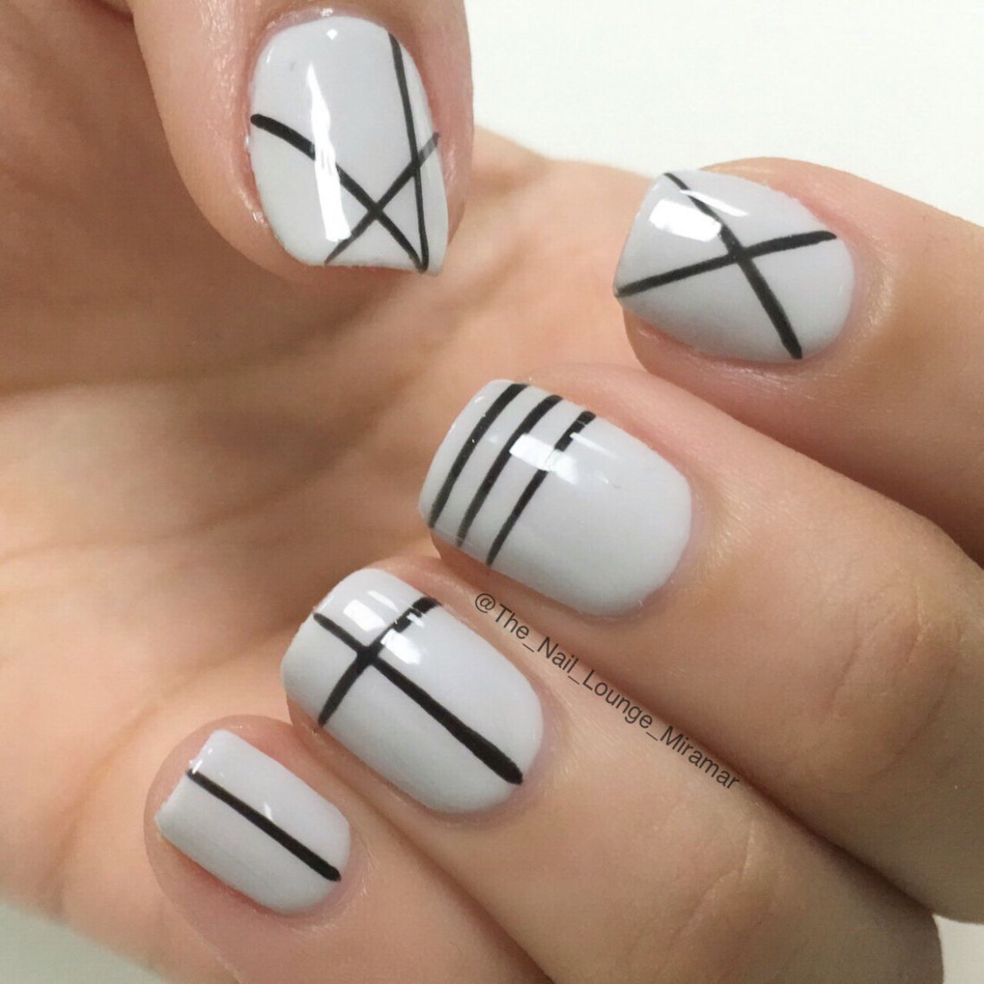 8 Cool Nail Art Ideas for 8 - Easy Nail Designs for Beginners  - Line Nail Designs 2020