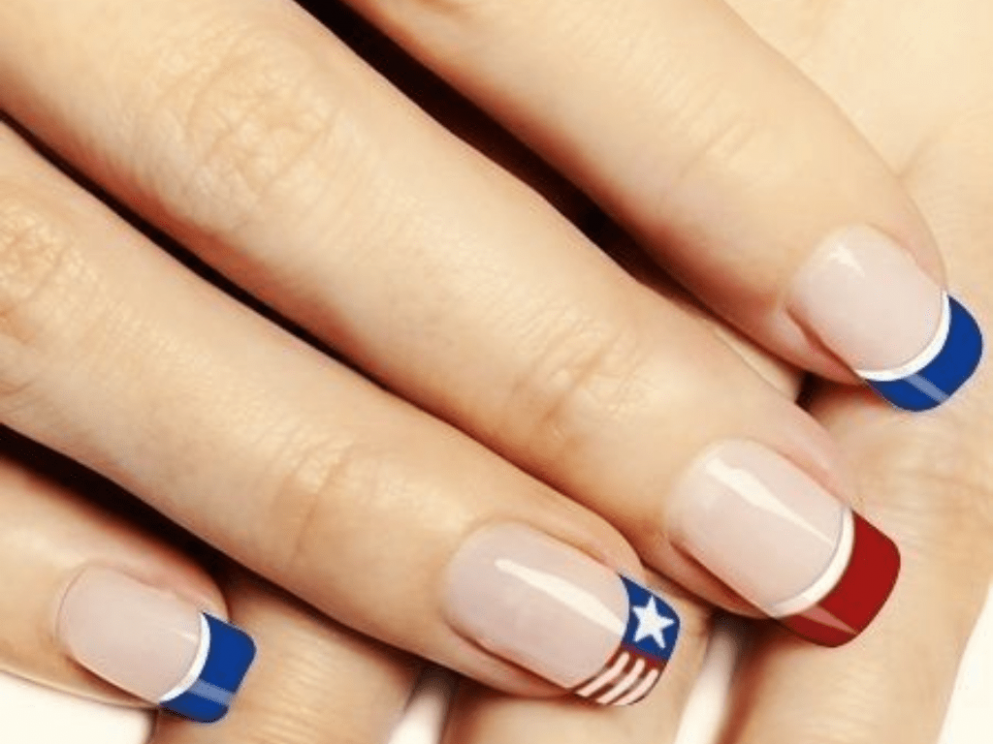 8 Simple Fourth Of July Nails To Keep You Minimalist - Society8 - Simple Fourth Of July Nails