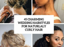 9 Charming Bride's Wedding Hairstyles For Naturally Curly Hair