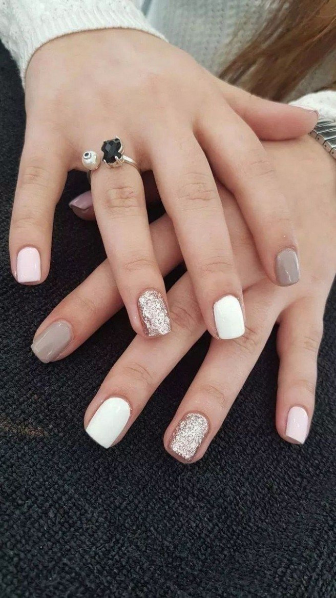 9+ Trendy Stunning Manicure Ideas For Short Acrylic Nails Design