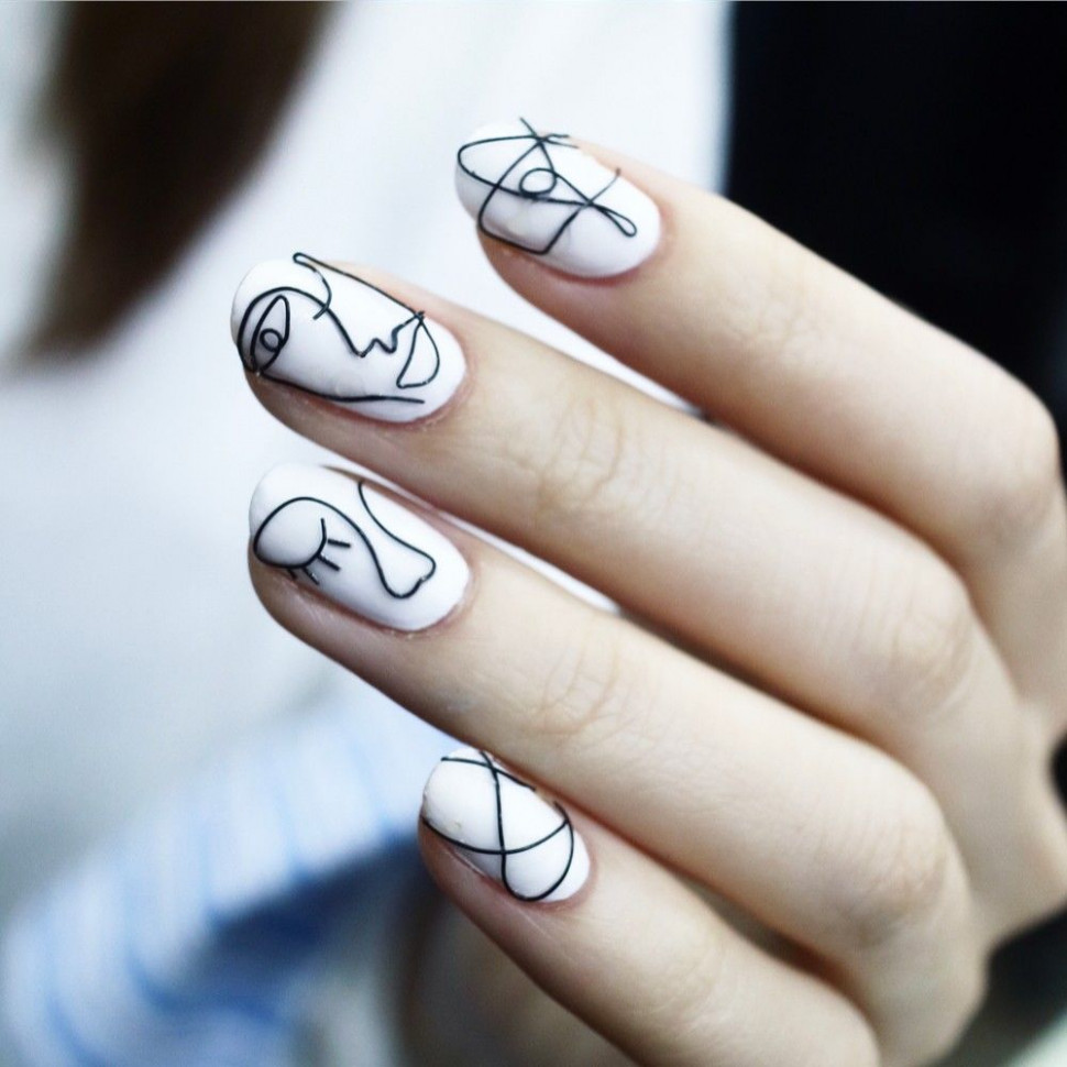 Artsy White Nail Art Pictures, Photos, and Images for Facebook  - Artsy Nail Designs