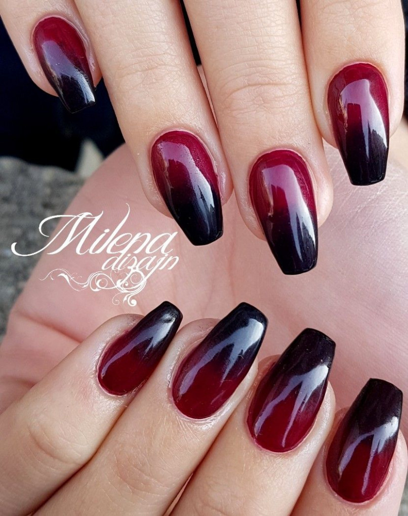 Black red nails  Red nails, Almond nails red, Black ombre nails - Black And Red Nail Ideas