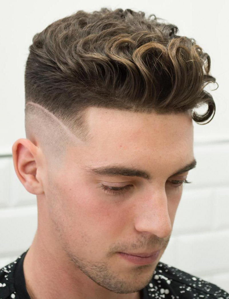 Curly Undercut with a Disconnected Fade  Wavy hair men, Curly