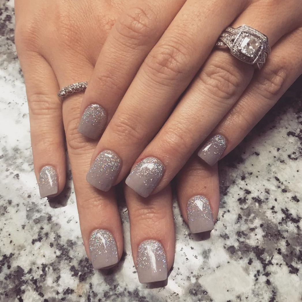 """Nail Art / Nail Designs ❤️ on Instagram: """"Taupe ombré #glitter"""