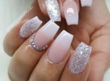 Ombre acrylic nails, coffin shape #acrylicnaildesigns  Ombre