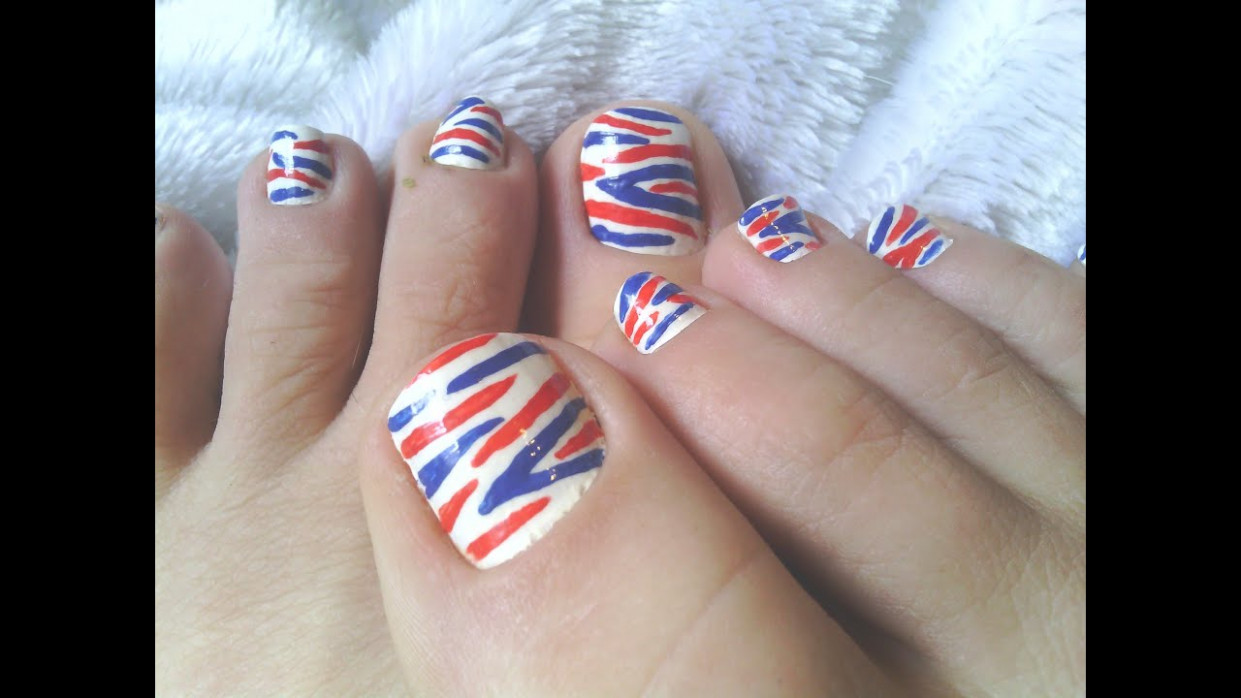 Red, White and Blue Toenail Designs: Here's What You Need for