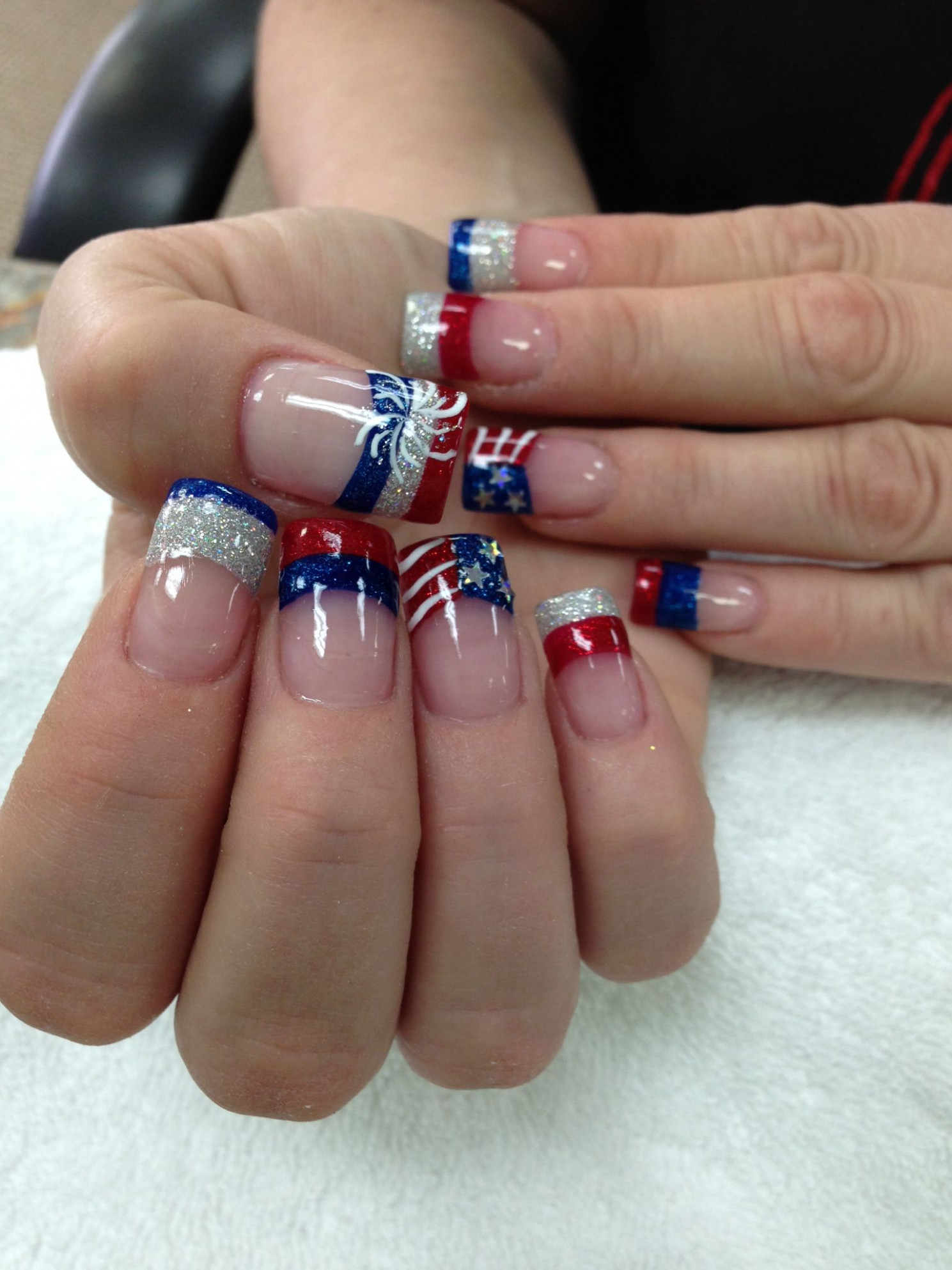 Red-White-Blue for you! This design is not only for July, you can