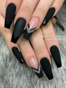 The Most Beautiful Black Winter Nails Ideas  Nageldesign