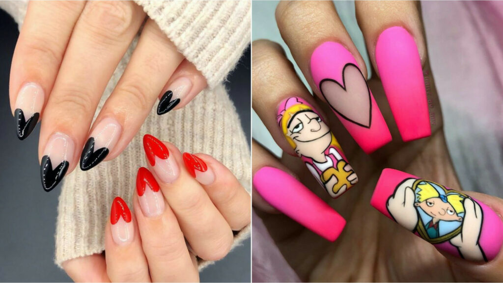 Awesome Valentine Nail Art Designs