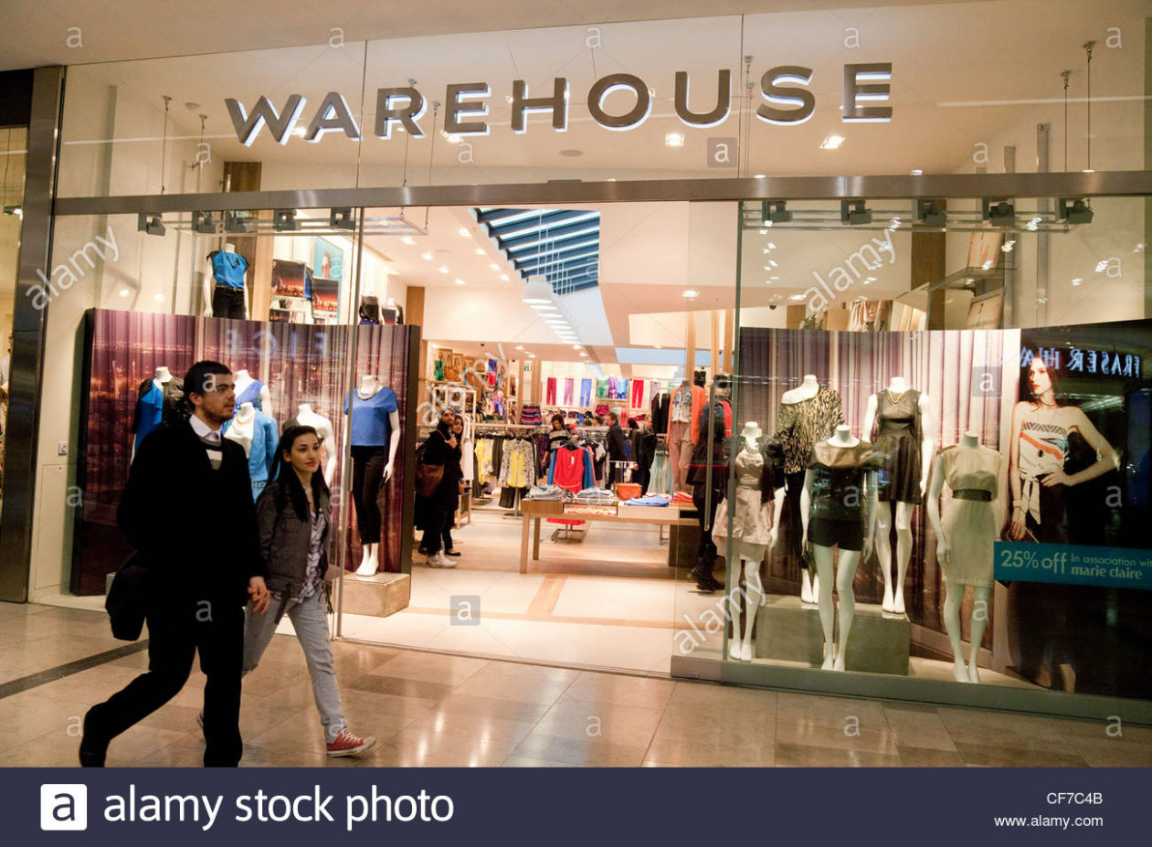The Warehouse fashion store, Westfield shopping centre, Stratford