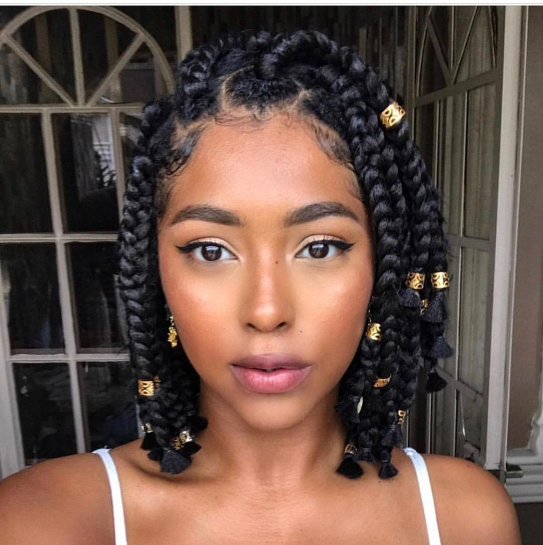 These 12 Short Fulani Braids With Beads Are Giving Us Life in 12