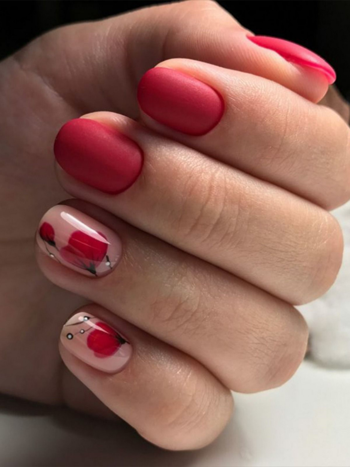 11+ Beautiful Nail Ideas for Red Manicure in 11  Nail art