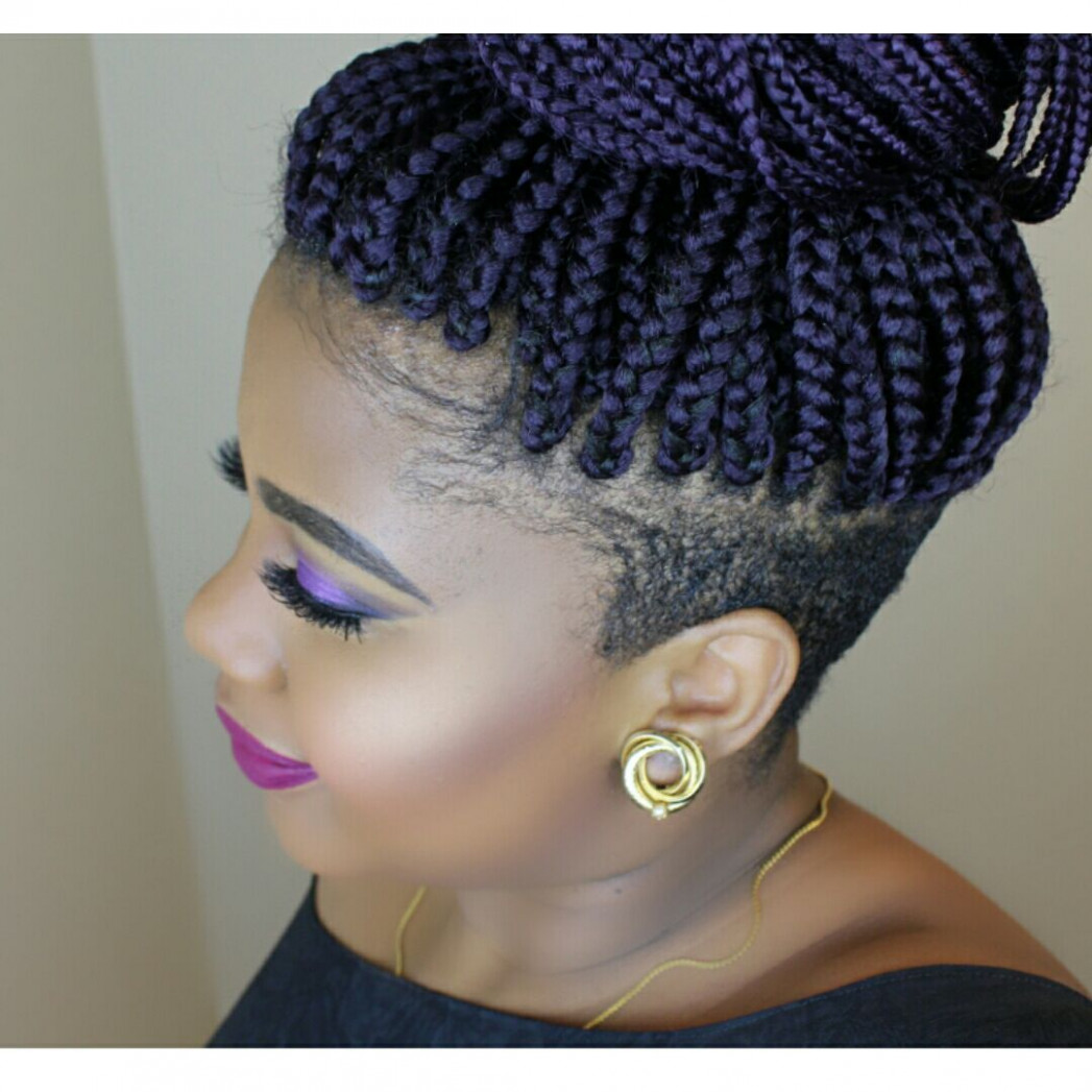 Braids with shaved sides  Shaved side hairstyles, Braids with