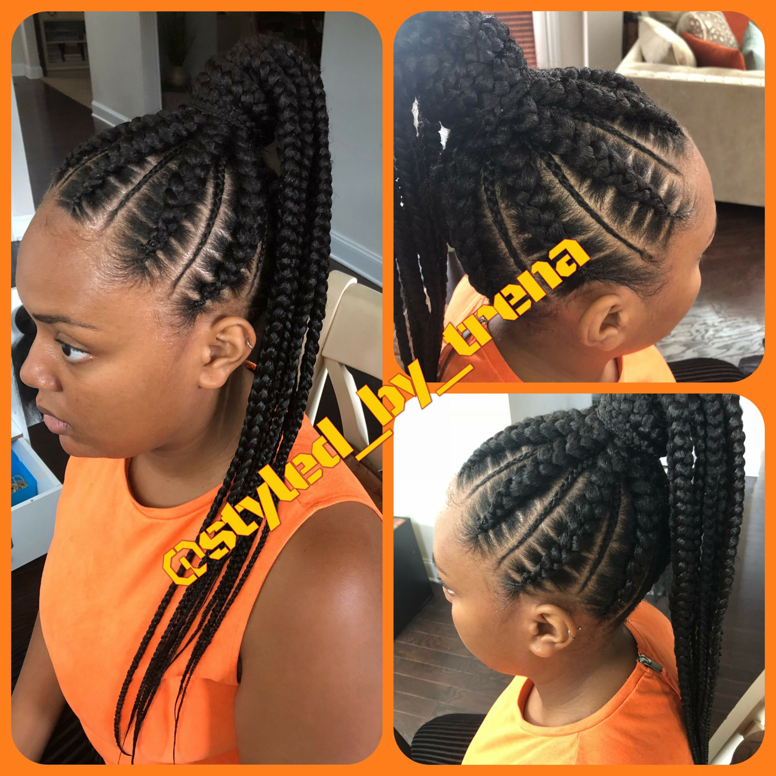 Stitch braids into ponytail  Cool hairstyles, Girls natural