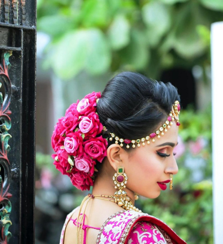 10+ Best Bridal Hairstyles with Roses for a Glam Bridal Hairdo