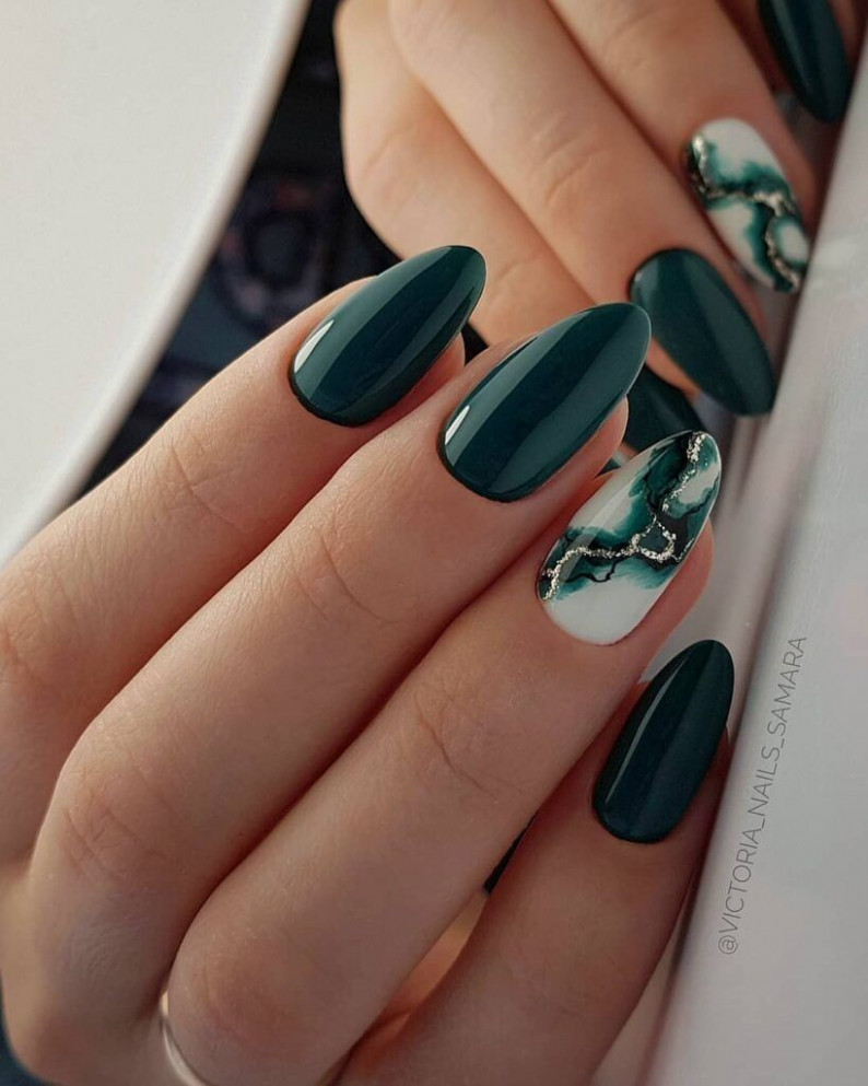 11+ Cool Nail Art Designs Ideas For Fall In 1119  Green nail