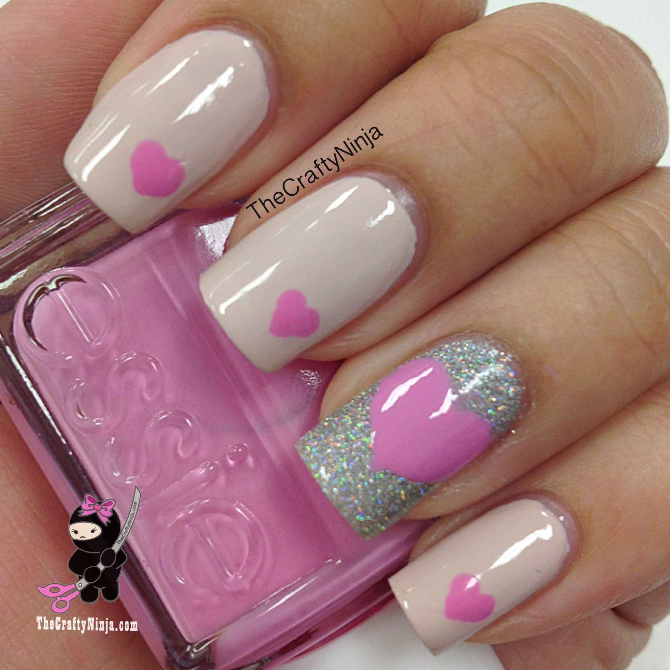 11 Valentine's Day Nail Art Designs We Love - More  Heart nails