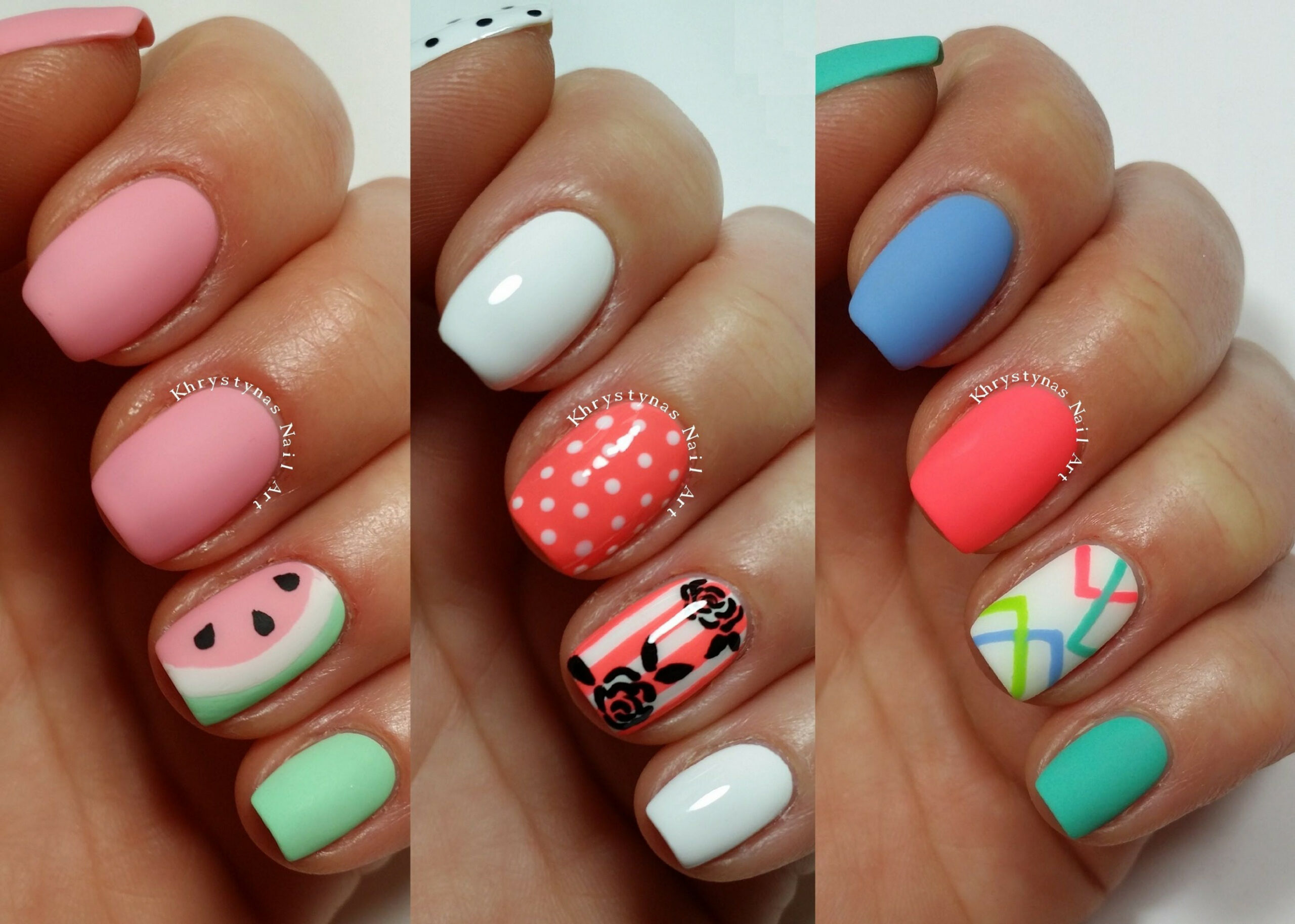 8 Easy Nail Art Designs for Short Nails  Freehand #8  Simple