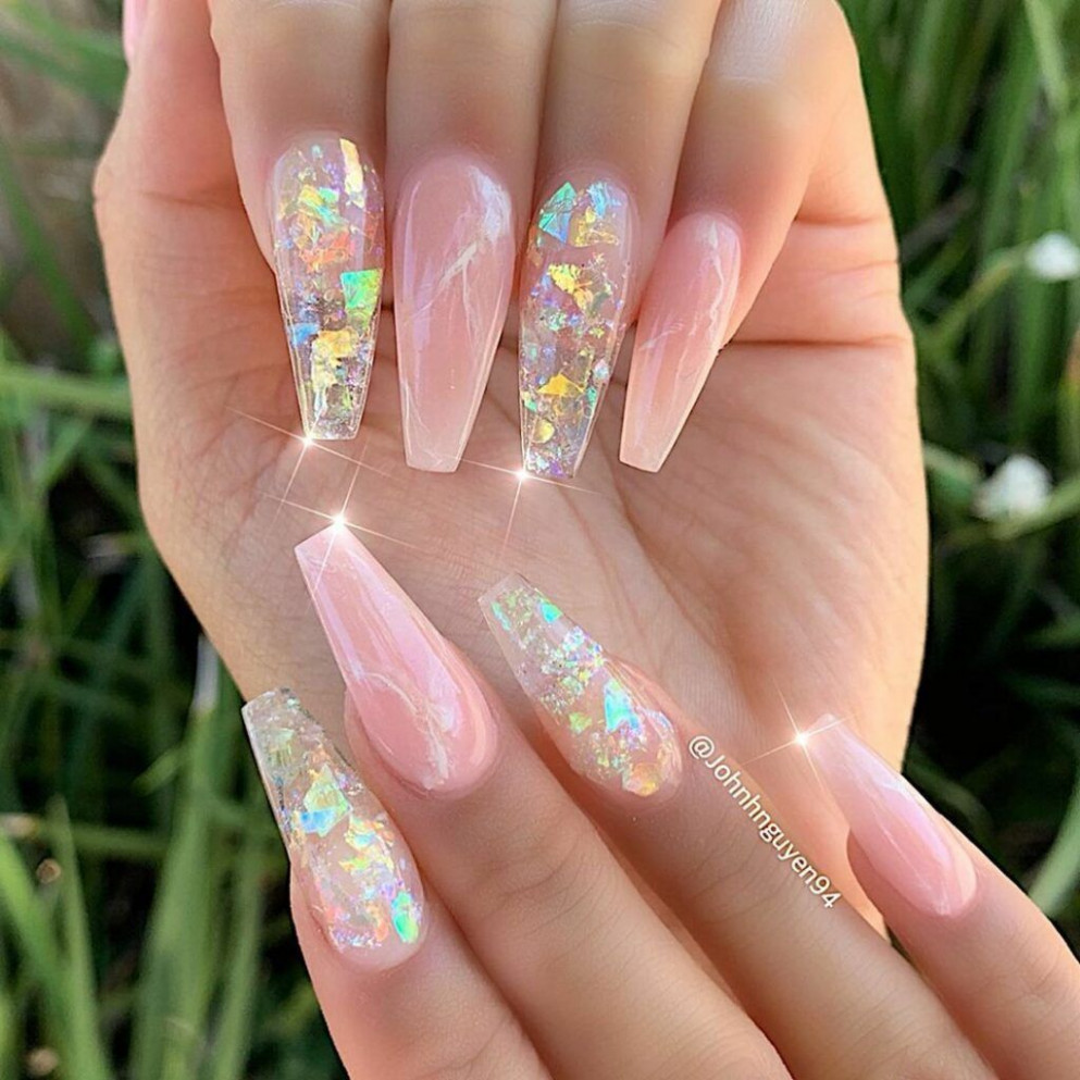 8+ Fancy Coffin Acrylic Nails For 8  Coffin acrylic nails
