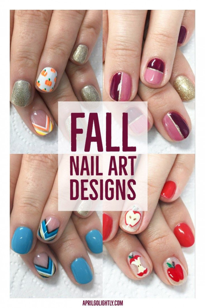 Fall Nail Designs for 12. My fall nails are painted with fall