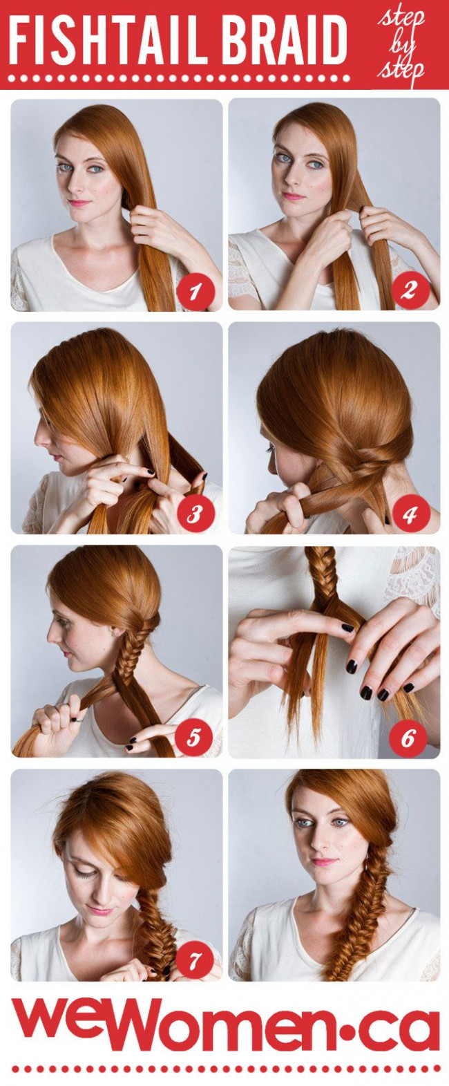 How to do a fishtail braid: Step by step fishtail plait - wewomen