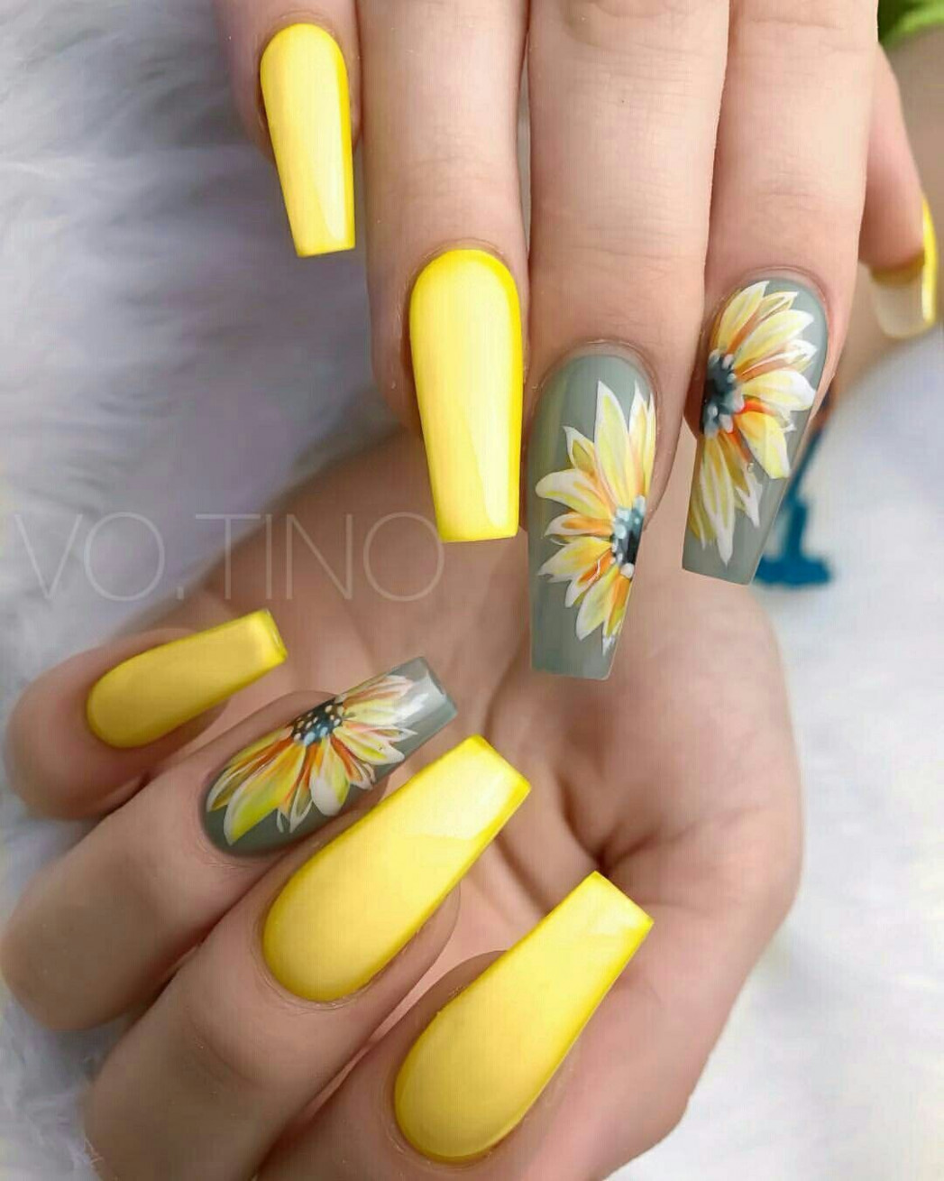 Spring Nail Designs  Unghie girasole, Unghie, Unghie gialle