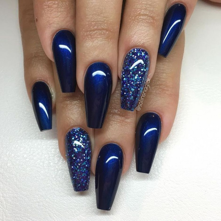 Sweet Blue Nails Ideas that Make Cool and Calm Appearance - #nails